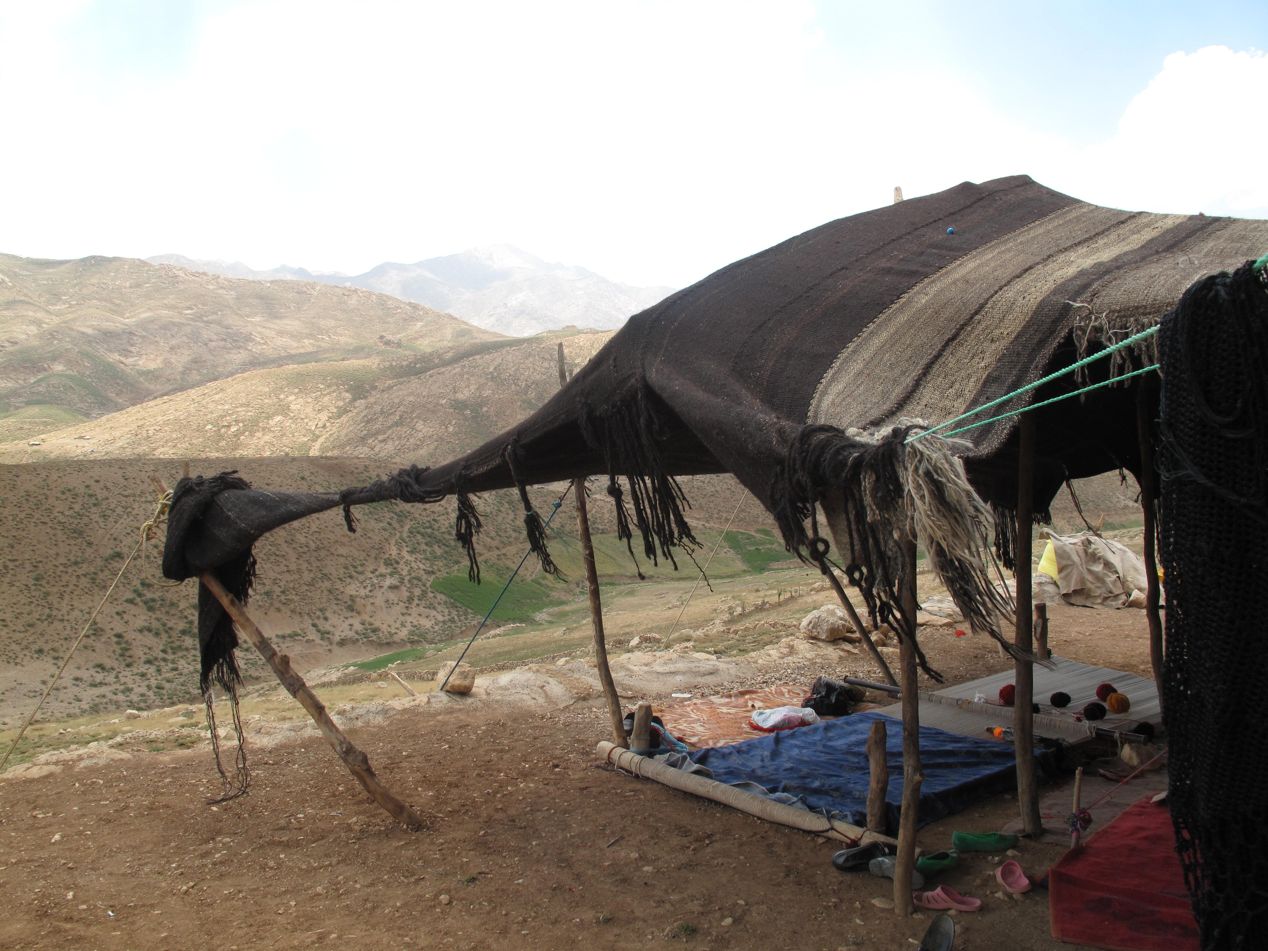 Tent in wind