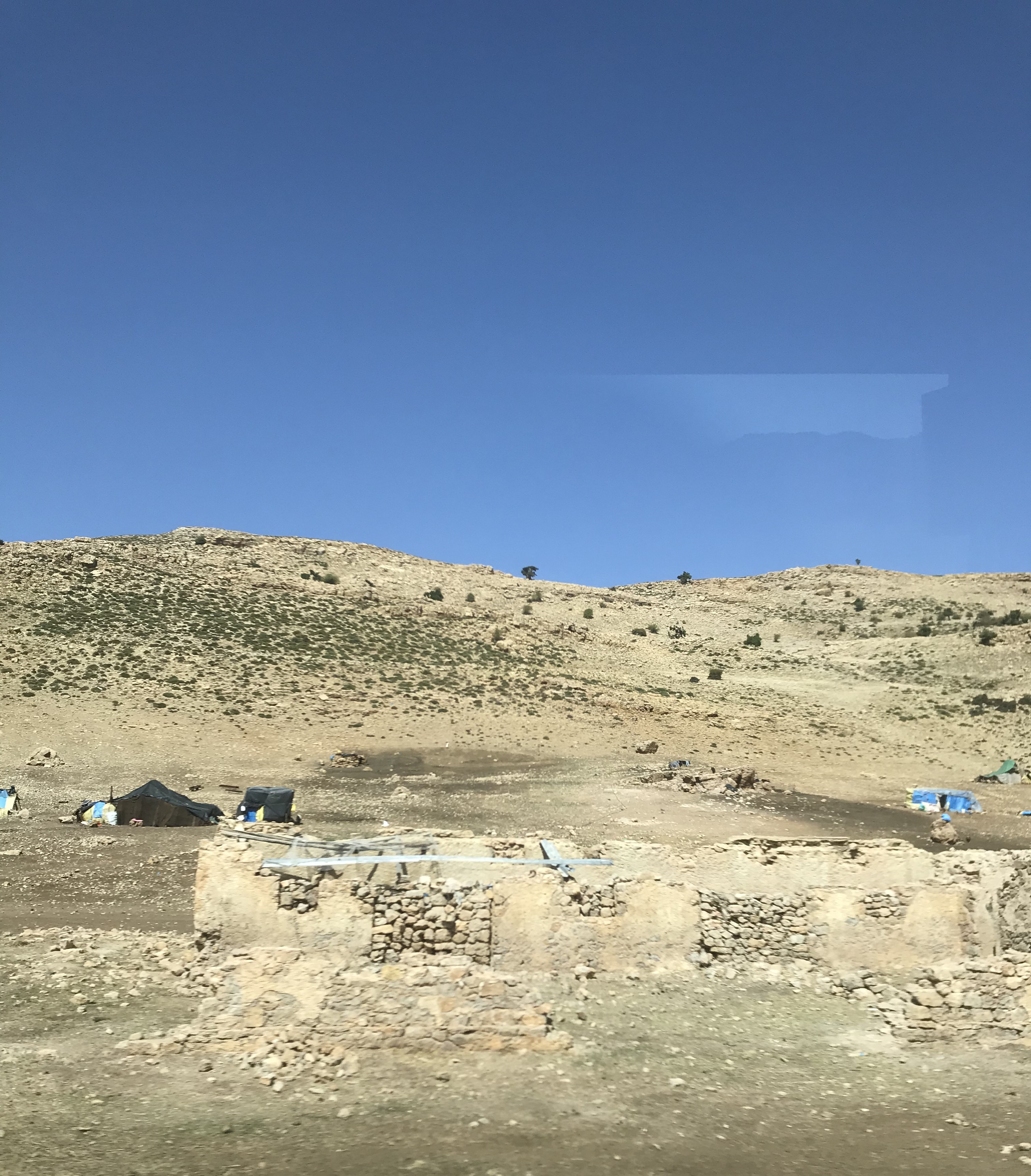 Nomad camp in Morocco
